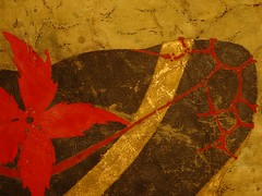 putrefaction_3_detail_epaule (EvEmi) Tags: red paris france love rouge gold or aquarelle australia vert watercolour papier share buste namaste dore