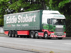 Eddie Stobart PF14 LFN (North West Transport Photos) Tags: truck lorry louise eddie zara scania streamline a41 lfn bromborough stobart eddiestobart scaniar r450 pf14 scaniar450 pf14lfn h6985 zaralouise scaniasreamline