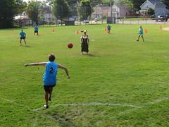 Celebrity kickball tournament (yooperann) Tags: county celebrity field michigan upper tournament harlow dango bang peninsula marquette kickball