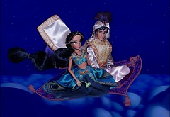 """Now I'm in a Whole New World with you"" (They Call Me Obsessed) Tags: world new classic fairytale photoshop movie carpet flying doll dolls princess designer jasmine barbie parks prince disney diamond collection ali whole animated aladdin limited edition princesses genie 2014 dfdc"