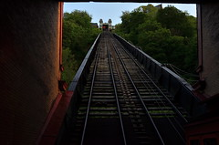 For Those So Inclined (MPnormaleye) Tags: city railroad mountain train pittsburgh pennsylvania perspective tracks transportation transit rails commuter 24mm duquesne incline
