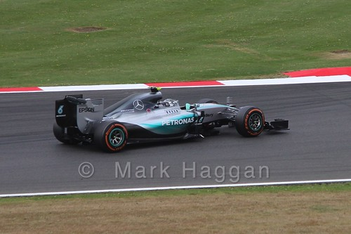 Lewis Hamilton in Free Practice 3 at the 2015 British Grand Prix