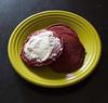 red velvet pancakes-004 (swardraws) Tags: food pancake creamcheese fiestaware redvelvet