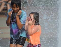 very wet (Krasivaya Liza) Tags: playing water fountain kids race ga georgia fun town day center duluth