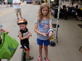 A couple young visitors to UI Health Care's booth at RAGBRAI 2015