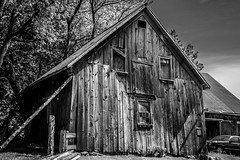 There. I fixed it. (KWPashuk) Tags: bw monochrome barn mono nikon shed weathered shack leaning barnboard nikkor1735mmf28ed d7200 kwpashuk kevinpashuk