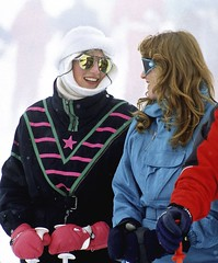 Huty16060202 (onesieworld) Tags: ski fashion fetish switzerland shiny neon retro wear 80s nylon kinky catsuit jumpsuit snowsuit klosters skisuit