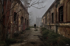 siberia (dim.pagiantzas | photography) Tags: road trees windows urban woman plants building architecture buildings construction model alley ruins factory cloudy outdoor bricks structure siberia dereliction allatini ruby10