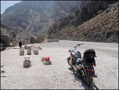 Bike gorge (sublevel3) Tags: holidays roadtrip crete gorge touring kawasaki vn800 motorcycleontheroad