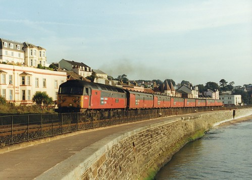"47750 ""Royal Mail Cheltenham"" (Sparegang) Tags: 47750 class47 477 brushtype4 res dawlish 47082 1999"
