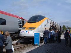 Eurostar 3313 NRM Railfest 040604-001 (UK Rail Pics) Tags: eurostar nrm nationalrailwaymuseum 3313 yorkworks yorkrailfest2004
