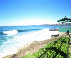 Green Lookout (Wander and Ramble) Tags: ocean water beach la jolla california cove blue green waves landscape seascape view sky nature outside outdoors