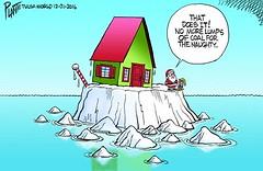 Bruce Plante Cartoon: From the North Pole (nickalisciousnick) Tags: bruceplantecartoonfromthenorthpole santasworkshop shrinkingpolaricecap climatechange globalwarming plante20161222