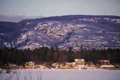 Eardley Escarpment during Golden Hour (CdnAvSpotter) Tags: dunrobin luskville eardley escarpment landscape scenery ottawa river frozen water cottages winter canada hills gatineau park