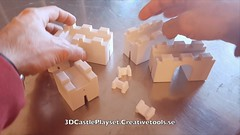 3DCastlePlayset.CreativeTools.se - Assembling walls (Creative Tools) Tags: castle castles toy playset toys wall toykit tower towers house miniatures medieval cow pig horse goat sheep windmill siegetower catapult well barrel box ladder fence animals assembly joint butterflyjoint fort children childrenstoys fortress block blocktoys desktoptoys desktoptoy desktop