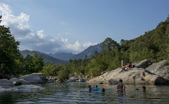 Piscines Naturelles de Cavu (EvenHarbo) Tags: nikon nikond7100 france frankrike corsica korsika river sky nature landscape pool piscinesnaturellesdecavu corsedusud swimming