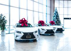 (jeffcay05) Tags: car lexus white presents holidays christmas tree redbow indoor keyes vannuys keyeslexus