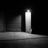 Around the Corner (DanRSmith) Tags: bw blackandwhite night nightlight nighttimeneopan dark light shadow shadowplay rolleiflex 35e xenotar fujineopanacros100 ilfosol3