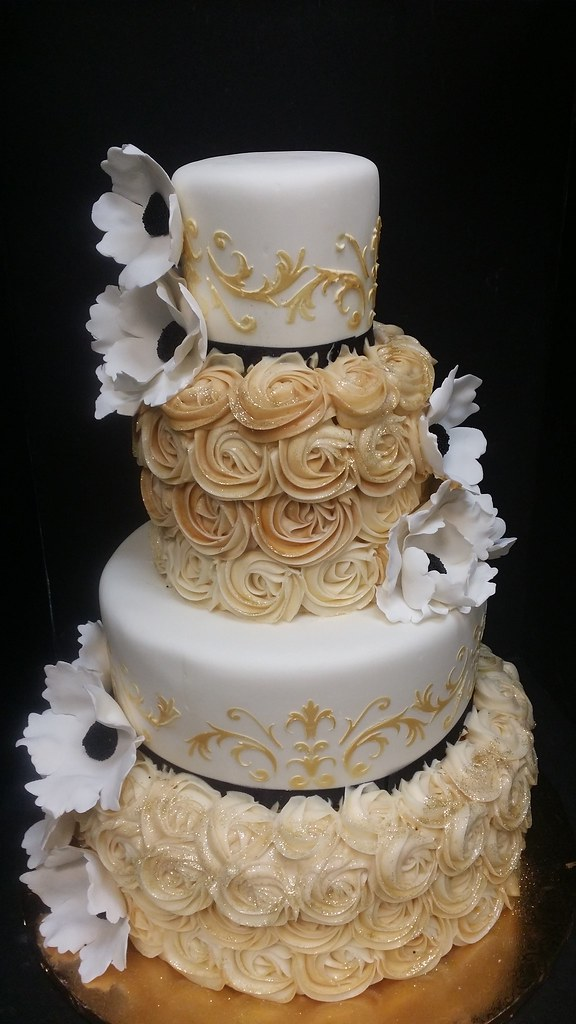 black wedding cakes with flowers the world s best photos of cake and rosettes flickr hive 11887