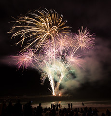 Happy New Year....and good riddance to 2016 (William Miller 21) Tags: staugustine pier beach fireworks celebration happynewyear hello2017 goodbye2016 canon 1018 t3i