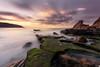 Azkorri (Caramad) Tags: mar landscape sunset marcantábrico puestadesol rocks agua longexposure beach bizkaia azkorri verde seascape rocas sea olas playa