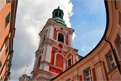 Franciskanen Church........ (atsjebosma) Tags: architecture church franciskanenchurch kerk tower toren poland polen poznan atsjebosma 2016 clouds sky wolken