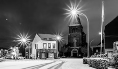 church Belgrade (BE) (Yasmine Hens) Tags: monochrome bw blackandwhite church winter night hensyasmine namur belgium wallonie europa aaa بلجيكا belgique bélgica ベルギー белгия բելգիա belgio 벨기에 belgia бельгия 比利时 bel be autofocus ngc saariysqualitypictures flickrclickx infinitexposure wow arealgem