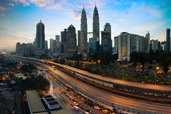 Kuala Lumpur skyline (Patrick Foto ;)) Tags: architecture asia blue building business busy city cityscape commercial corporate destination development downtown evening famous finance financial highway journey kl klcc kuala landmark landscape light lumpur malaysia metropolis metropolitan morning office petronas scape scene scenery sky skyline skyscraper sunlight sunrise sunset tourism tower towers town traffic travel twilight twin urban view kualalumpur wilayahpersekutuankualalumpur my
