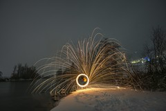 (marcelseekircher) Tags: lightpainting night lights light zillertal austria tyrol tirol snow winter cold nature steelwool