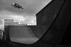 Hackney, London (rob.sidlow) Tags: bmx bmxlife bikelife action actionphoto actionsports sports bike bmxing biking mono monochrome 700d canon t5i rebelt5i sigma artlens art lens park skatepark hackney london lnd dark light shadow highlights