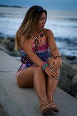 (teodoraGran) Tags: sea girl serenity summer mood beautiful woman portrait nikon d90 blue selfportrait sunset joy smile