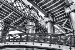 Under The Birdcage (KRC1975) Tags: hdr bridges thebirdcage manchester castlefield