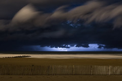 First lightning of the year (Romain Archimbaud) Tags: éclairs paysbasque storm nature lightning nuit nightsky paysage anglet basquecountry ciel sky seascape beach ocean plage orage
