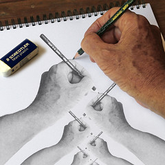Hand Drawing Hand Drawing Hand...(IMG_2581) (Dennis Candy) Tags: photoshop paper hand drawing infinity experiment surreal manipulation photoediting infinite photoplus