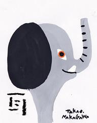 (nakagawatakao) Tags: elephant illustration painting character ear charactor      takaonakagawa