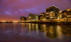 Hamburg Skyline Reflection
