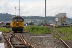 Inv15111 MillburnYard 68001 56113 and MPV and 66605 on 020715 (retbsignalman) Tags: inverness lafarge mpv freightliner drs networkrail 56113 68001 66605 colasrail millburnyard