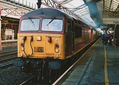 "English Welsh & Scottish Railways Class 56's, 56041 & 56038 (37190 ""Dalzell"") Tags: grid brush crewe railtour revised ews class56 56041 maroongold type5 englishwelshscottishrailways pathfindertours 56038 doncasterbuilt gratisgrid"