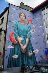 Mechelen muurt (Red Cathedral uses albums) Tags: streetart art cards graffiti mural alice flamingo mechelen aliceinwonderland redcathedral muralism aztektv milucorrech mechelenmuurt aliceduerme