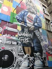 Manneken Pis wall painting in the Eikstraat (Joop van Meer) Tags: brussels wallpainting 2015 gr12 eikstraat