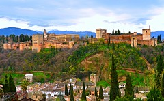 Albaicín, Alhambra y Sierra Nevada, Granada (eustoquio.molina) Tags: alhambra granada castillo castle palace palacio edificio monumento albaicín sierra nevada alcazaba ciudad city monument