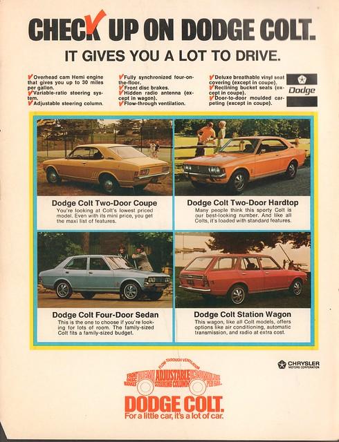 car 1971 december craft advertisement dodge colt
