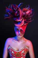 Lights Nuances 3# (Cesc92) Tags: light portrait colors girl beauty face fashion female hair studio photography glasses spain model glamour eyes nikon makeup award lips hairstyle figaro hairdressing