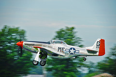 Going Home (Fly Sandman) Tags: airplane fighter wwii flight ww2 mustang takeoff p51d keos northamericanaviation pecosbill neoshomo