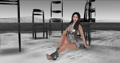 Girl In Ink (Culco's Secondlife) Tags: hello life beauty dave silver garden dress mesh head lace sunny second genesis halter bold sheer culco