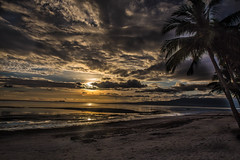 Siquijor, Viasyas - Philippines (Jackson Pollard) Tags: siquijor visas philippines sunset clouds skies church unesco world heritage site dogs sun light rays palm trees landscape southeastasia south east asia travel wideangle wide angle beach hdr beauty