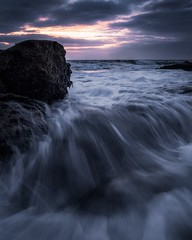 Dark flow (garethcoggan) Tags: seascape landscape light water fun flow waves early sydney nsw australia coastline coastal travel hike a7r 1635 canon sunset sunrise rocks coast morning sony beach longexposure