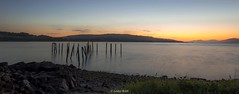 Salen Old Pier At Sunset - Isle of Mull (Lesley Robb) Tags: landscape water sunset isle mull outdoor colour sky pier evening