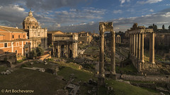 The ruins of the ancient Rome. A view from the Capitoline museums. (abochevarov) Tags: purple capitoline rome roma italy europe view zeiss wideangle wide sunset ruins ancient ancientrome landscape