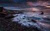 Dally Bay,SW Scotland (Dooj Brawls Photography) Tags: sunset clouds coastal rocks rhinns red waves water scotland sky seascapes sea scenery light landscapes bay dally dumfries galloway irish scottish canon 6d ef1740mmf4l lee filters